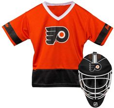 3de056397 Youth Franklin Philadelphia Flyers Goalie Face Mask   Jersey Set Team  Uniforms