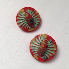 Vintage glass beetle scarab buttons Brutalist Design, Vintage Pottery, Contemporary Jewellery, Vintage Buttons, Beetle, Vintage Jewelry, Glass, Vintage Ceramic, June Bug