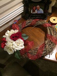 Super easy DIY Winter Wreath