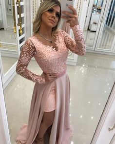 Shop sexy club dresses, jeans, shoes, bodysuits, skirts and more. Prom Dresses Long With Sleeves, Pink Prom Dresses, Gala Dresses, Dance Dresses, Homecoming Dresses, Dress Outfits, Fashion Dresses, Bridesmaid Dresses, Formal Dresses