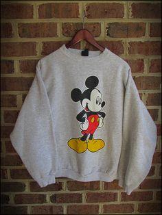 Vintage 90's Mickey Mouse Disney Crewneck by RackRaidersVintage, $20.00