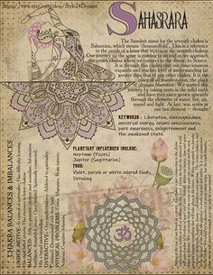 The Seventh Chakra (Sahasrara / Crown Chakra / thousand-petalled lotus) Wiccan, Magick, Witchcraft, Chakra Meditation, Chakra Healing, Meditation Music, Mindfulness Meditation, Sanskrit, Ayurveda