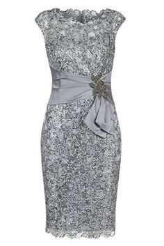 Body-con Dresses,Cap Sleeves Dresses,Light Grey Dresses,Lace Mother Dresses,Mother of The Bride Dresses