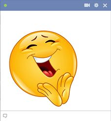 When your Facebook friend makes you laugh, you can post this laughing smiley to your reply.