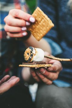6-20-15 Had s'mores for the first time this summer with our neighbors.
