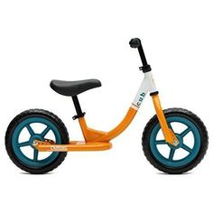 Kids Bike Cub No Pedal Balance Riding Steel Frame Training Wheels Orange Teal #CriticalCycles
