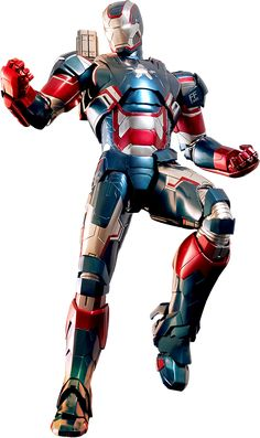 Marvel Avengers Comics Iron Patriot Flag Iron Man Collectible PVC Action Figure