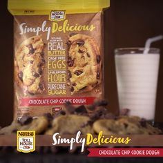Made with 100% real chocolate, Simply Delicious Chocolate Chip Cookies are the perfect chocolate chip cookie. Our new refrigerated cookie dough is ready to bake, and ready to enjoy!