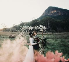 You NEED a colorful smoke bomb at your wedding.