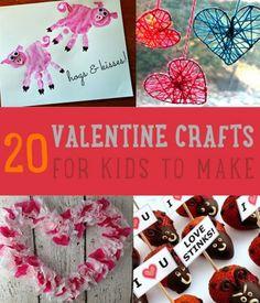 20 Homemade Valentine Crafts For Kids To Make
