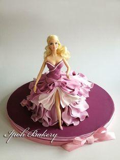 Ipoh Bakery fashion doll cake in purple