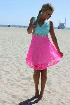 that dress is gorgeous! Neon Dresses, Cute Dresses, Casual Dresses, Cute Outfits, Girls Dresses, Knit Dress, Dress Skirt, Elegant Dresses, Passion For Fashion