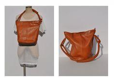 vintage LEATHER TOTE bag carry all shopping purse LARGE shoulder bag.. $55.00, via Etsy.