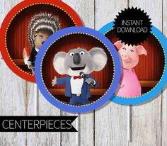 SING Birthday Party PRINTABLE Centerpieces by APartyPrintable