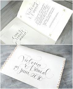 Ylva Skarp bröllopsinbjudningar för Viktoria & Daniel