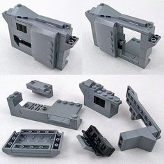 "https://flic.kr/p/6yBUFS | Sliding door technique | When building the APC from the movie Aliens, I had to come up with a way to make a sliding door that didn't add too much of a ""mechanism"" stealing space from the interior. During the whole project I was focusing on movie accurate functionality inside small spaces. This sliding door is really effective with just a few pieces. The base for the idea is that the thin wall element matches the thin plate of the part holding the door. T..."