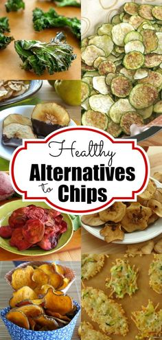 Healthy alternatives to chips that will satisfy your need to crunch and sneak fruits and vegetables into your diet too! Perfect for a school lunch box or as a side dish for dinner. Healthy Drinks, Healthy Snacks, Healthy Eating, Dry Snacks, Healthy Junk, Veggie Snacks, Veggie Chips, Fruit Snacks, Veggie Food