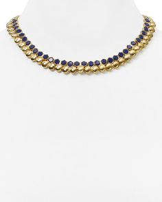 Lauren Ralph Lauren Beaded Collar Necklace, 17""