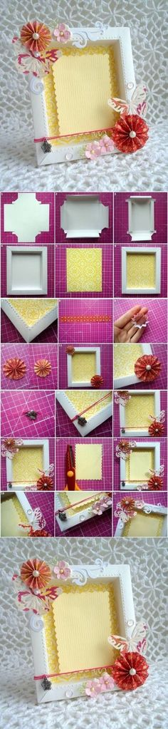 DIY Cute Cardboard Picture Frame | iCreativeIdeas.com Like Us on Facebook ==> https://www.facebook.com/icreativeideas: