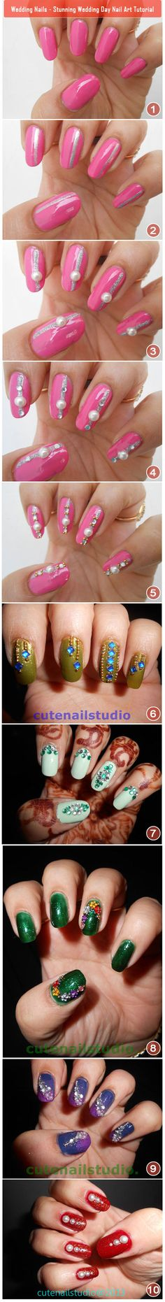 Wedding Nails – Stunning Wedding Day Nail Art Tutorial