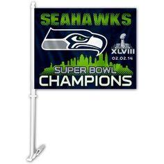 seahawks car flag