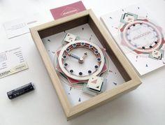 Unique Paper Clock, #Deskclock, Paper Clock, Gift For her, Papercut Desk Clock, Wood Desk Clock, Geometric Clock, Hipster Furniture