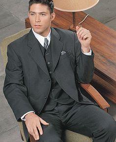dark gray tuxedo for groom/groomsmen