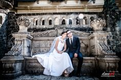 Bride and groom Sinaia