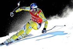 Aksel Lund Svindal of Norway competes during the Audi FIS Alpine Ski World Cup Men's SuperG on March 3 in Kvitfjell, Norway.