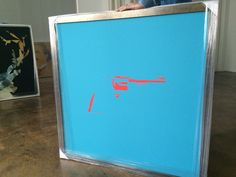 REVOLVER blue Art Series, Revolver, Evolution, Neon Signs, Blue, Revolvers, Hand Guns