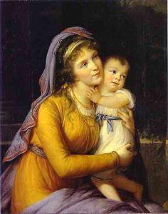 Baronesa Anna Sergeevna Stroganova y su hijo Sergey, 1793 - Louise Elisabeth Vigée Le Brun