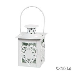 Heart Tea Light Lantern - Oriental Trading