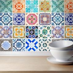 Traditional Spanish Tiles Stickers - Ti...