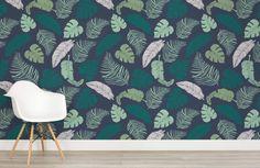 Dark Tropical Leaves Wallpaper | Murals Wallpaper