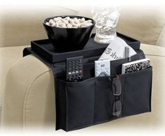 Sofa Arm Covers Organizer Remote Control Holder Snack Recliner Tray Table-Top