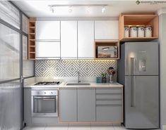 Kitchen Room Design, Kitchen Cabinet Design, Home Decor Kitchen, Interior Design Kitchen, Kitchen Furniture, Home Kitchens, Modern Kitchen Cabinets, Apartment Kitchen, Kitchen Remodel