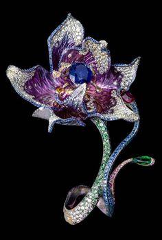Wallace Chan Flower Brooch