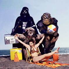 "Rolling Stone ""Star Wars Goes On Vacation"" photo shoot..."
