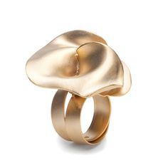 "Ring | Marina Massone. ""Rose collection"" Gold plated"
