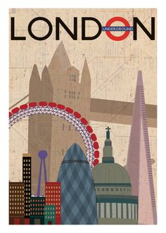 Vintage Poster Thanks Sharon! London UK Underground vintage travel poster Keltner-would add to your collection Posters Decor, Old Posters, Vintage Travel Posters, Kunst Poster, Poster S, Sale Poster, Poster Ideas, Poster City, Print Poster