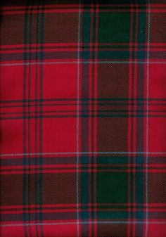 Modern McLintock Tartan One of the Septs of the Clan which has its own tartan. Although called Modern it is listed in the Tartan books as a Rare tartan.