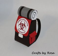 Zombie Apocalypse Favor Box by CraftsbyRosa on Etsy, $5.00 You can make this yourself though too