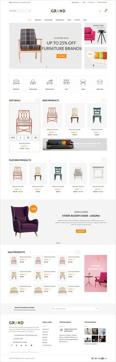Grand is beautifully design #responsive 4in1 HTML Bootstrap template for #furniture, #decor shop eCommerce websites download now➩ https://themeforest.net/item/grand-ecommerce-furniture-template/19216605?ref=Datasata