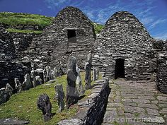 monastic beehive huts on Skellig Michael island ... Co. Kerry, Ireland