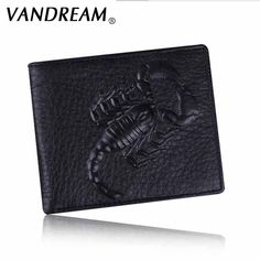 f6b2620587d6 Leather Wallet Men Scorpion Pattern Top Quality Purse male clutch Fashion  Brand Names Card Holders Carteira