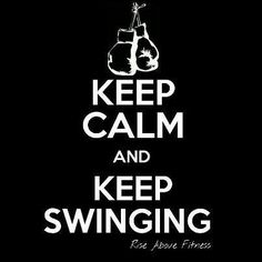 Keep calm #keepswinging #kickbox #boxinggloves