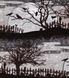 Holiday Inspirations Fabric-Scary Night