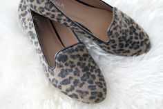 Leopard smoking shoes