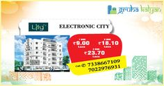 GruhaKalyan Lilly at Electronic City 1, 2 & 3 BHK Flats/Apartments Available Price Starts from 9 Lakhs Onwards.