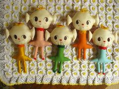 Candy Girls. One-of-a-kind handmade rag doll. #dolls, #candy, #yummy, #misakomimoko